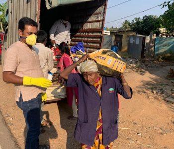 Distributing dry ration